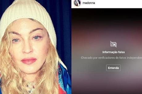 Madonna teve post censurado pelo Instagram