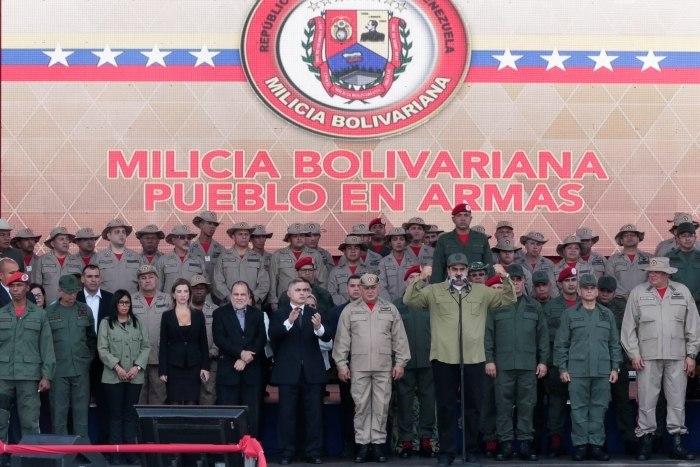 Milícia civil da Venezuela tem 1,6 milhão de membros, diz Maduro