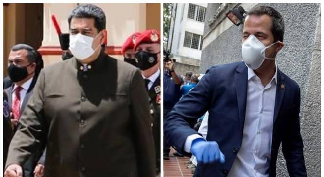 Maduro e Guaidó: disputa por controle de reservas venezuelanas no exterior
