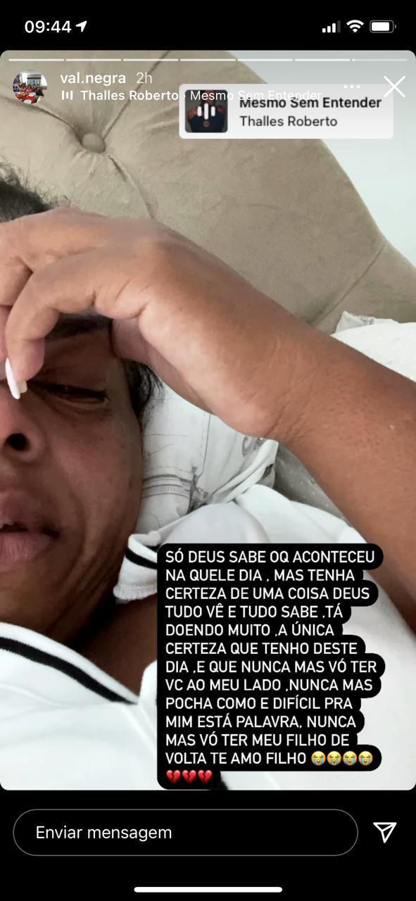 Mãe de MC Kevin lamenta saudade que sente do filho