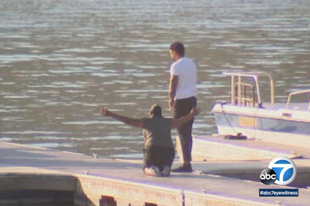 Yolanda foi ao lago onde filha desapareceu e participou das buscas
