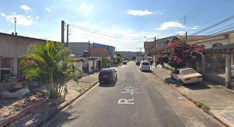 Mãe e filha foram baleadas na rua José Cícero Soares, em Arujá (SP)