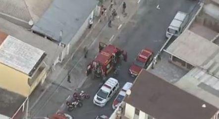 Mãe e filhos ficaram gravemente feridos em explosão