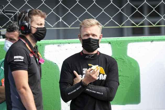 Magnussen antes da corrida. Quando a prova começou, pouco vimos o dinamarquês na pista