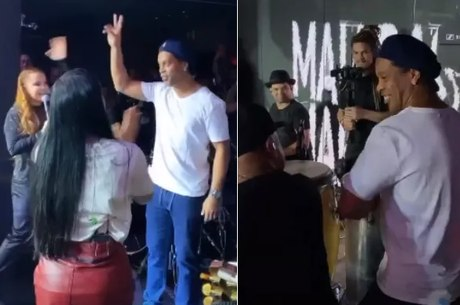 Maiara e Maraisa em show com Ronaldinho Gaúcho