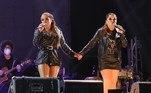 Maiara e Maraisa realizam primeiro show com público fora do carro, na noite do último sábado (24), na cidade de Pinhais, no Paraná