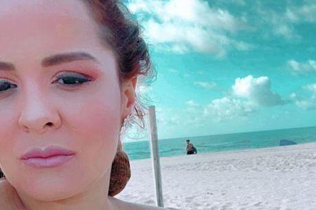 Fernando fez foto de Maiara na praia