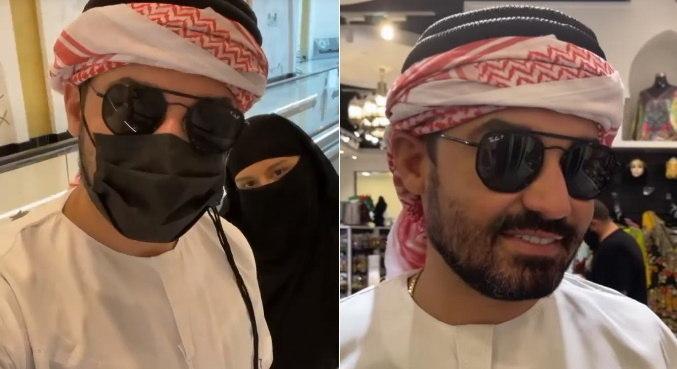 O casal Fernando e Maiara está nos Emirados Árabes, fazendo várias atividades