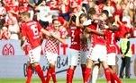 Na Alemanha, o modesto time do Mainz derrotou o RB Leipzig, terceiro colocado na temporada passada, por 1 a 0, neste domingo (15)Morre aos 75 anos Gerd Müller, histórico atacante da Alemanha