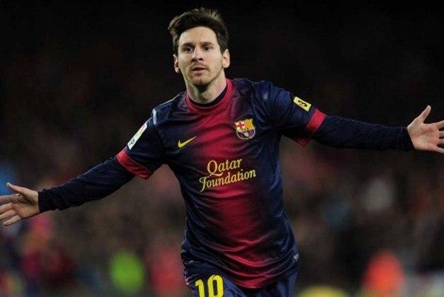 Maior goleador de todos os tempos em um ano civil. Em 2012, Messi marcou 91 gols: 84 com o Barcelona e 12 com a Argentina. Se amistosos fossem contatos, o número chegaria a um total de 96 gols.