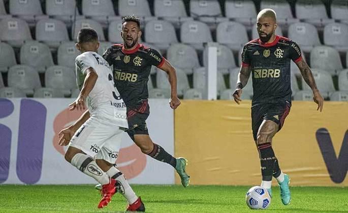 Mais um jogo do Flamengo e mais uma goleada. Com direito a hat-trick de Gabigol, o Rubro-Negro venceu o Santos por 4 a 0, na Vila Belmiro, em partida válida pela 18ª rodada do Brasileirão. A seguir, confira as notas (por João Alexandre Borges – joaoborges@lancenet.com.br):