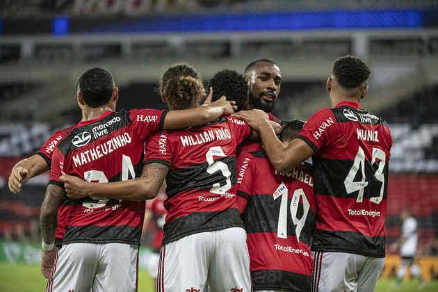 Mais uma vitória tranquila e vaga carimbada. Nesta quarta-feira, o Flamengo venceu o Coritiba por 2 a 0, no Maracanã, e avançou às oitavas de final da Copa do Brasil. (Por Lucas Pessôa - lucaspessoa@lancenet.com.br)