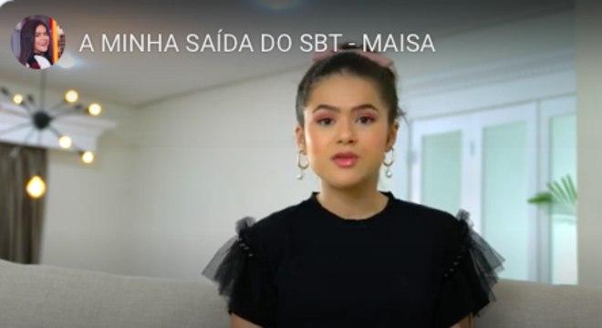 Maisa falou para seus fãs as razões que a levaram a não renovar o contrato com o SBT