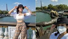 Em Paris, Maisa conta perrengue com presente do namorado