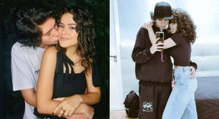 Maisa e Nicholas Arashiro, de 19 e 20 anosA atriz e apresentadora está há quase 4 anos namorando e, apesar de Nicholas ser mais reservado, os dois costumam trocar declarações nas redes sociais. Recentemente, Maisa brincou que a relação deles já é um