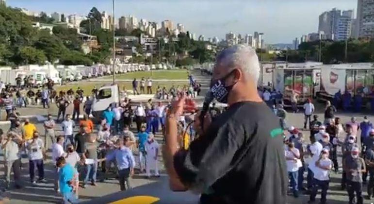 Senador Major Olímpio participa do protesto contra aumento do ICMS em São Paulo