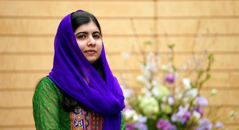 Malala sobreviveu a um ataque do talibã em 2012 quando tinha apenas 15 anos