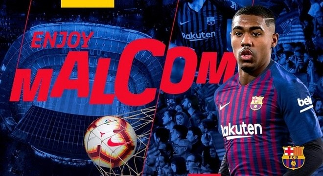 Malcom foi confirmado no Barcelona por cinco temporadas