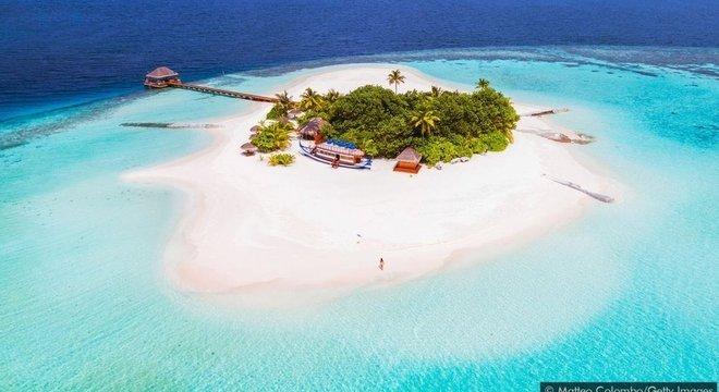 As ilhas Maldivas estão ameaçadas pelo aumento do nível do mar devido à mudanças climáticas