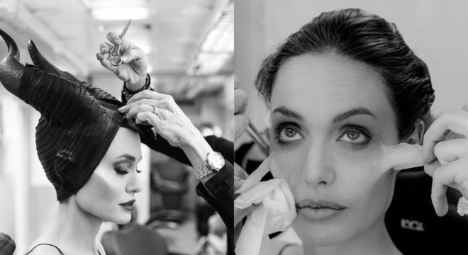 Maquiagem para interpretar Malévola leva três horas para ficar pronta