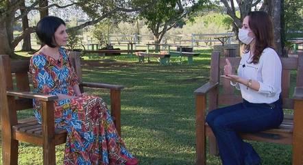 Malga di Paula em entrevista a Vanessa Pires
