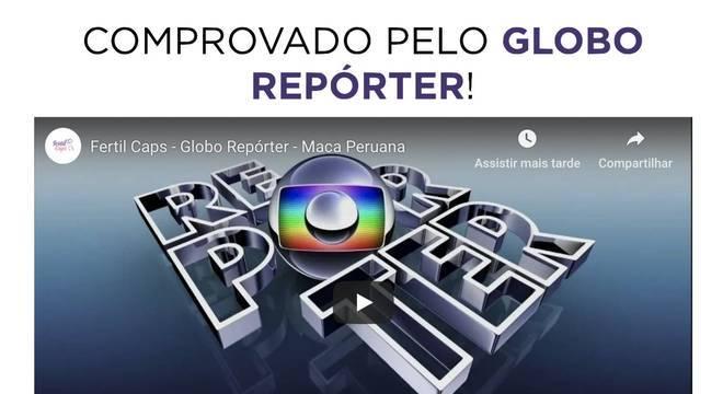 mam caps no globo reporter