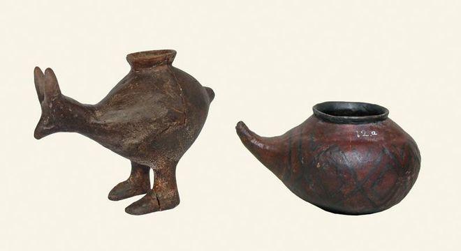 Mamadeira usada para alimentar bebês da pré-história