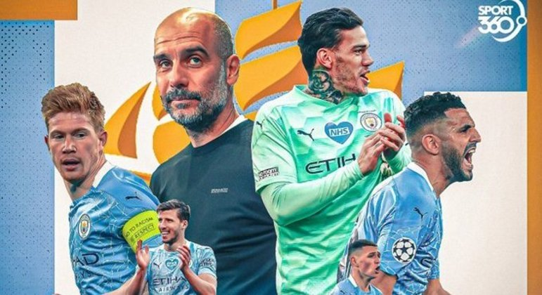 Destacados, De Bruyne, Guardiola, Ederson, Mahrez, Rúben Días e Gabriel Jesus