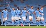 O Manchester City goleou o Burnley por 5 a 0, neste sábado (28), pela 10ª rodada do Campeonato Inglês. Jogando em casa, Riyad Mahrez (três vezes), Benjamin Mendy e Ferrán Torres marcaram os gols do City