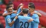 Logo na manhã desse sábado, o Manchester City de Pep Guardiola venceu o Sheffield United, fora de casa, e se aproximou do grupo de times que buscam uma vaga na Liga dos Campeões da Europa, principal torneio entre clubes. O gol solitário da partida foi marcado por Kyle Walker