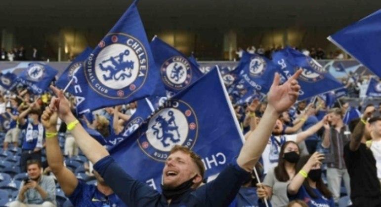 Manchester City x Chelsea - Final da Champions League - Torcida do Chelsea