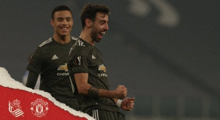 Pelo United, dois gols de Bruno Fernandes