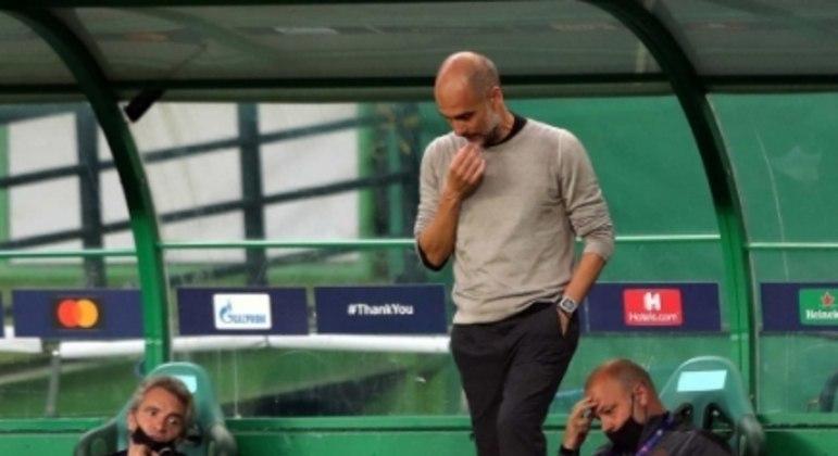 Manchester x Lyon - Pep Guardiola