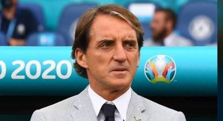 """Mancini, o treinador da """"Azzurra"""""""