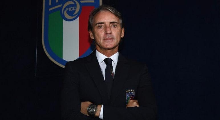 """Roberto Mancini, no dia em que assumiu a direção da """"Azzurra"""""""