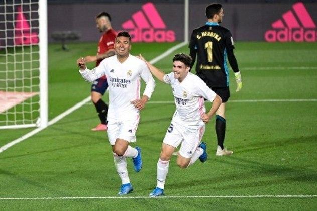 MANDOU BEM - Além da segurança defensiva, Casemiro marcou um gol 'sem querer' e garantiu a vitória merengue na La Liga