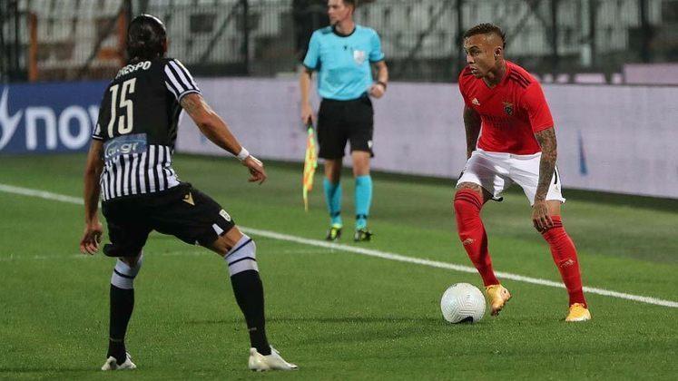 MANDOU BEM - Everton Cebolinha fez um dos gols da vitória do Benfica pelo Campeonato Português