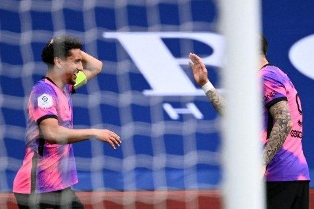 MANDOU BEM - Marquinhos fez o gol que garantiu a vitória do PSG e manter o time vivo na briga pela Ligue 1