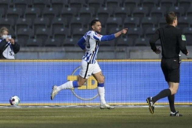 MANDOU BEM - Na vitória do Hertha sobre o Bayer Leverkusen, Matheus Cunha foi o autor do segundo gol da equipe da capital