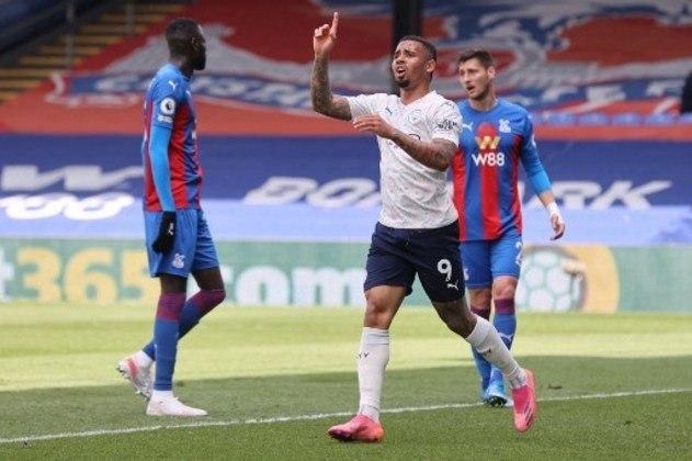 MANDOU MAL - Gabriel Jesus foi a peça menos participativa e decisiva de todo o ataque do Manchester City no triunfo sobre o Palace por 2 a 0
