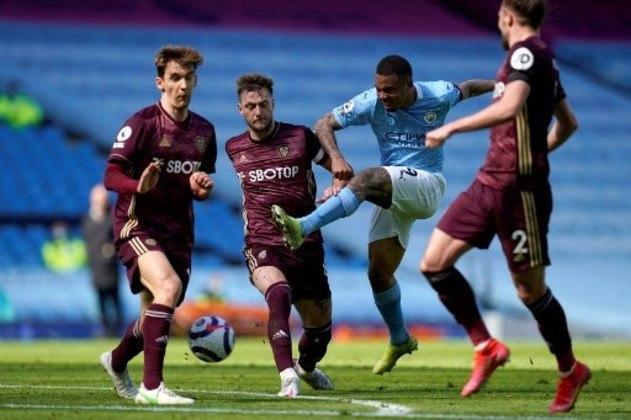 MANDOU MAL - Gabriel Jesus não criou oportunidades claras de gol e não teve muitas chances na partida, sendo completamente anulado pela defesa do Leeds