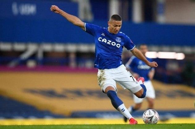 MANDOU MAL - Richarlison teve uma partida discreta contra o Manchester City e não conseguiu finalizar em gol
