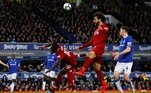 Soccer Football - Premier League - Everton v Liverpool - Goodison Park, Liverpool, Britain - March 3, 2019 Liverpool's Mohamed Salah and Sadio Mane in action REUTERS/Phil Noble EDITORIAL USE ONLY. No use with unauthorized audio, video, data, fixture lists, club/league logos or 'live' services. Online in-match use limited to 75 images, no video emulation. No use in betting, games or single club/league/player publications. Please contact your account representative for further details.