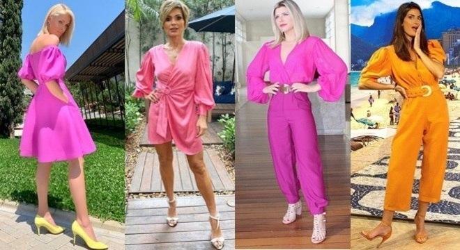 As famosas adoram essa tendência e fazem vários looks diferentes. Inspire-se!