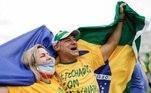 Maniestação a favor de Bplsonaro em Brasília