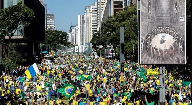 A reforma da Previdência foi defendida pela maiorida dos manifestantes na avenida Paulista