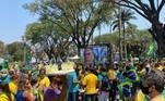 Manifestação em Belo Horizonte em favor do governo do presidente Jair Bolsonaro