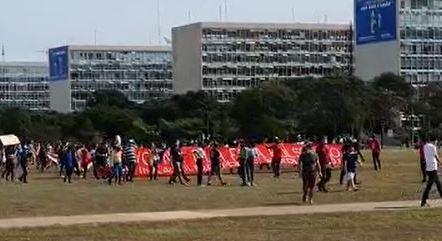 Protesto na Esplanada dos Ministérios