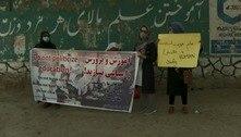 Talibã dispersa com tiros para o alto protesto de mulheres em Cabul