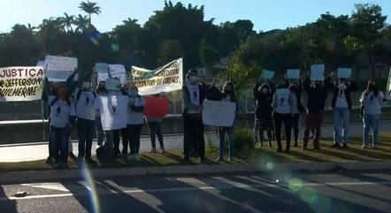 Protesto aconteceu em Ribeirão das Neves (MG)